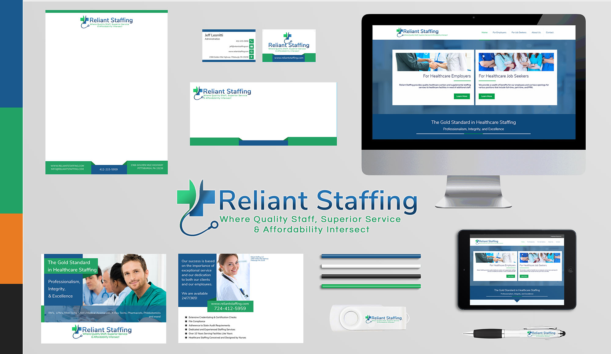Reliant Staffing Branding Board