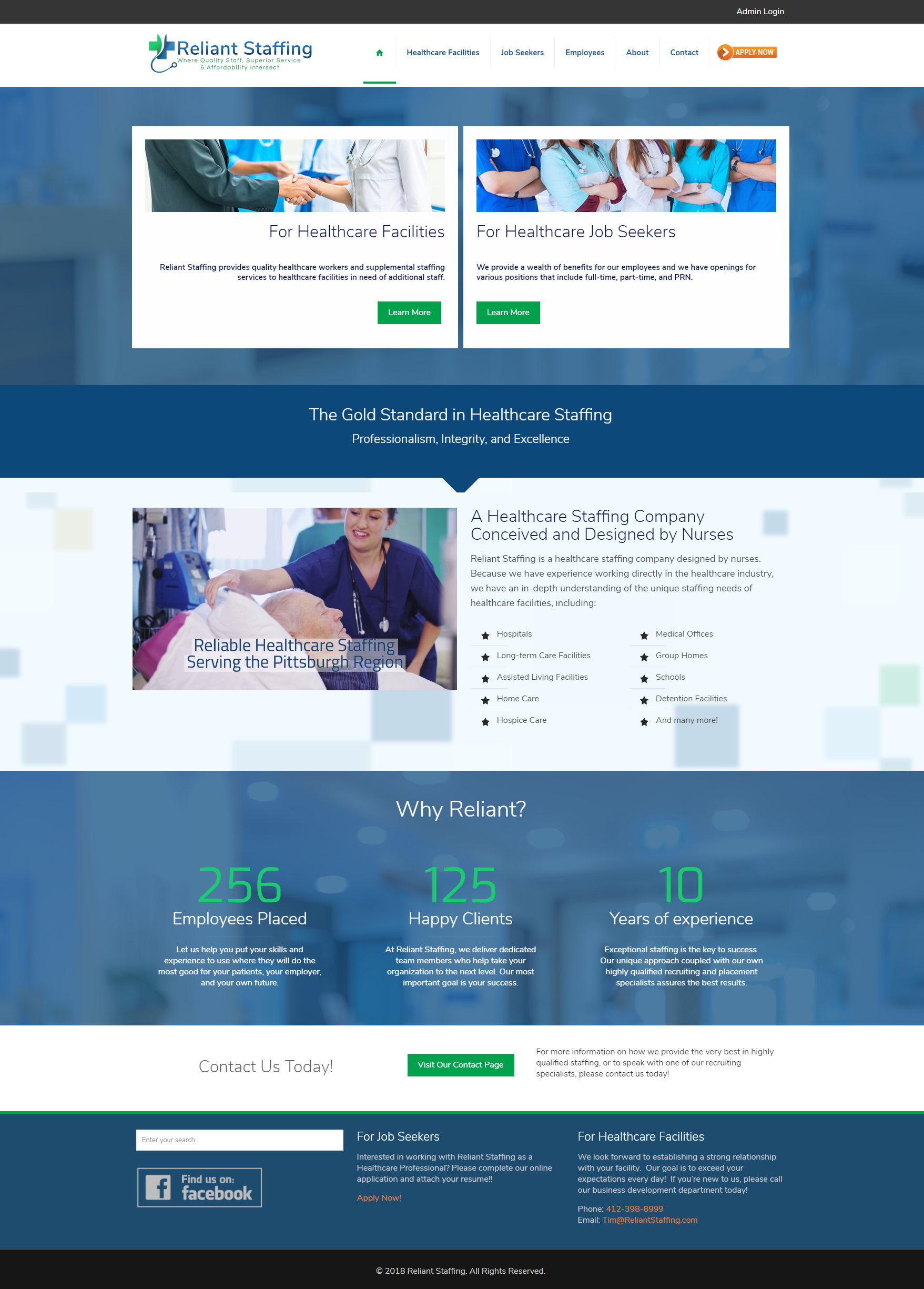 Reliant Staffing Website Design