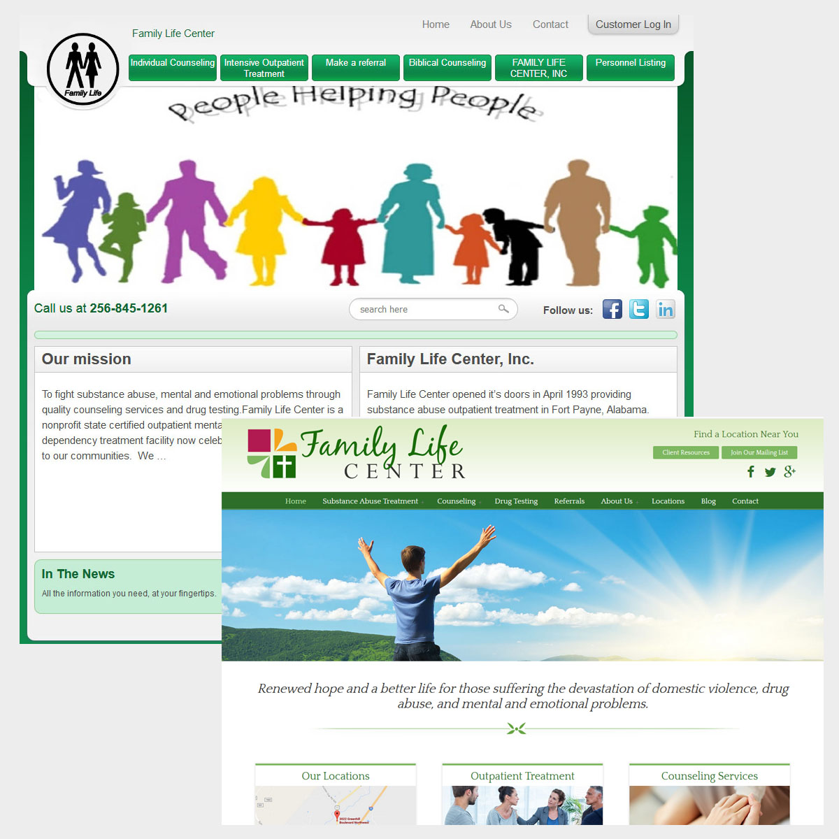 Family Life Center Before and after Rebranding